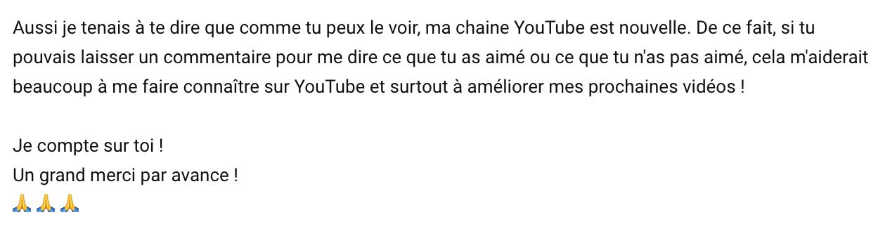 comment avoir plus de commentaire youtube