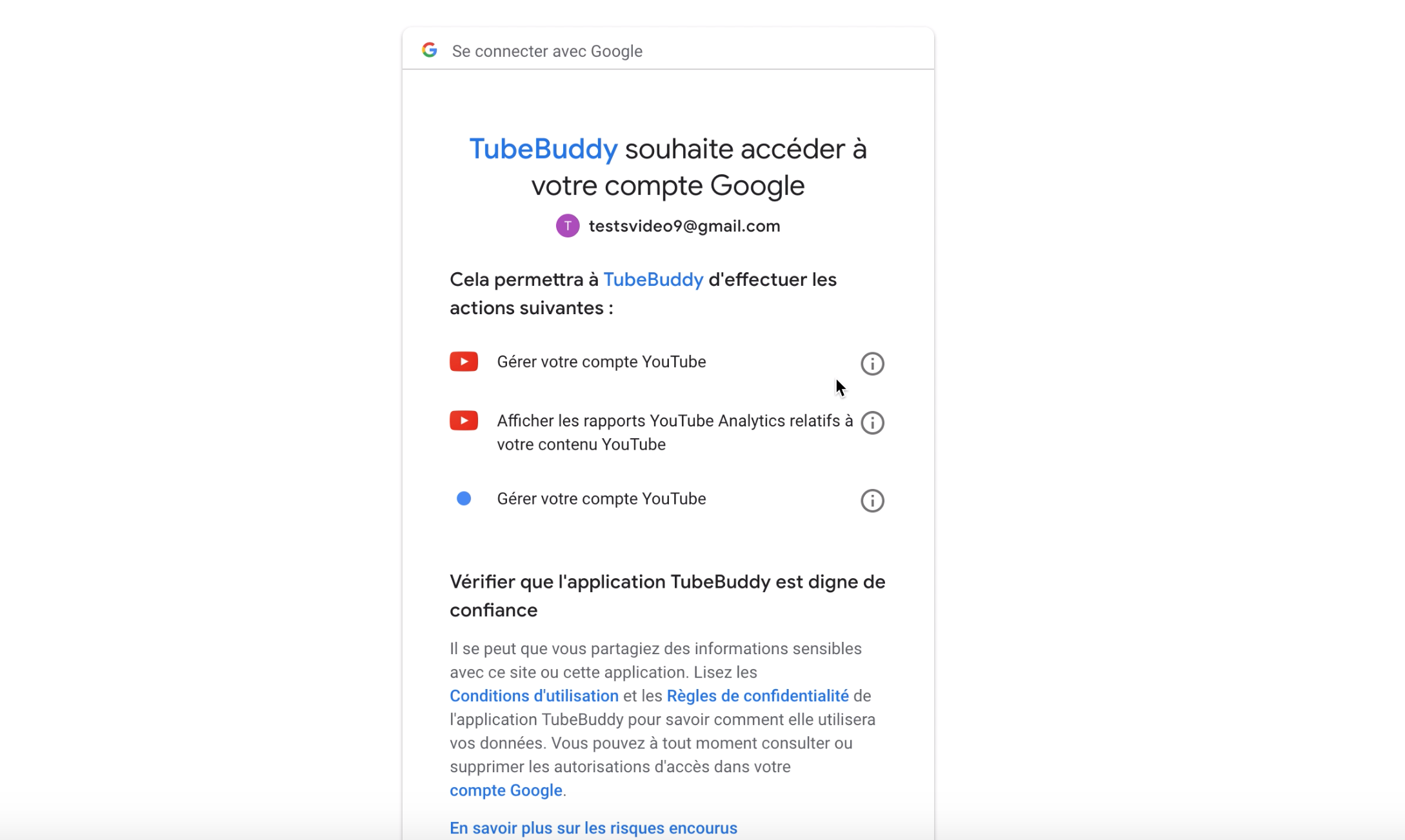 connecter tubebuddy a youtube