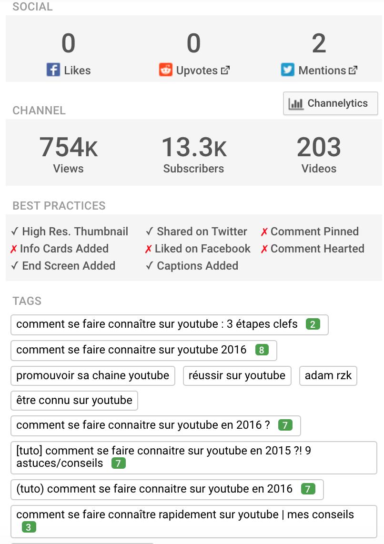 analyse de la concurrence sur youtube