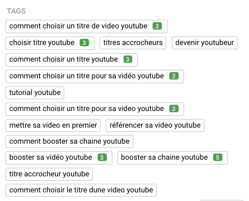 comment voir les tags des videos youtube