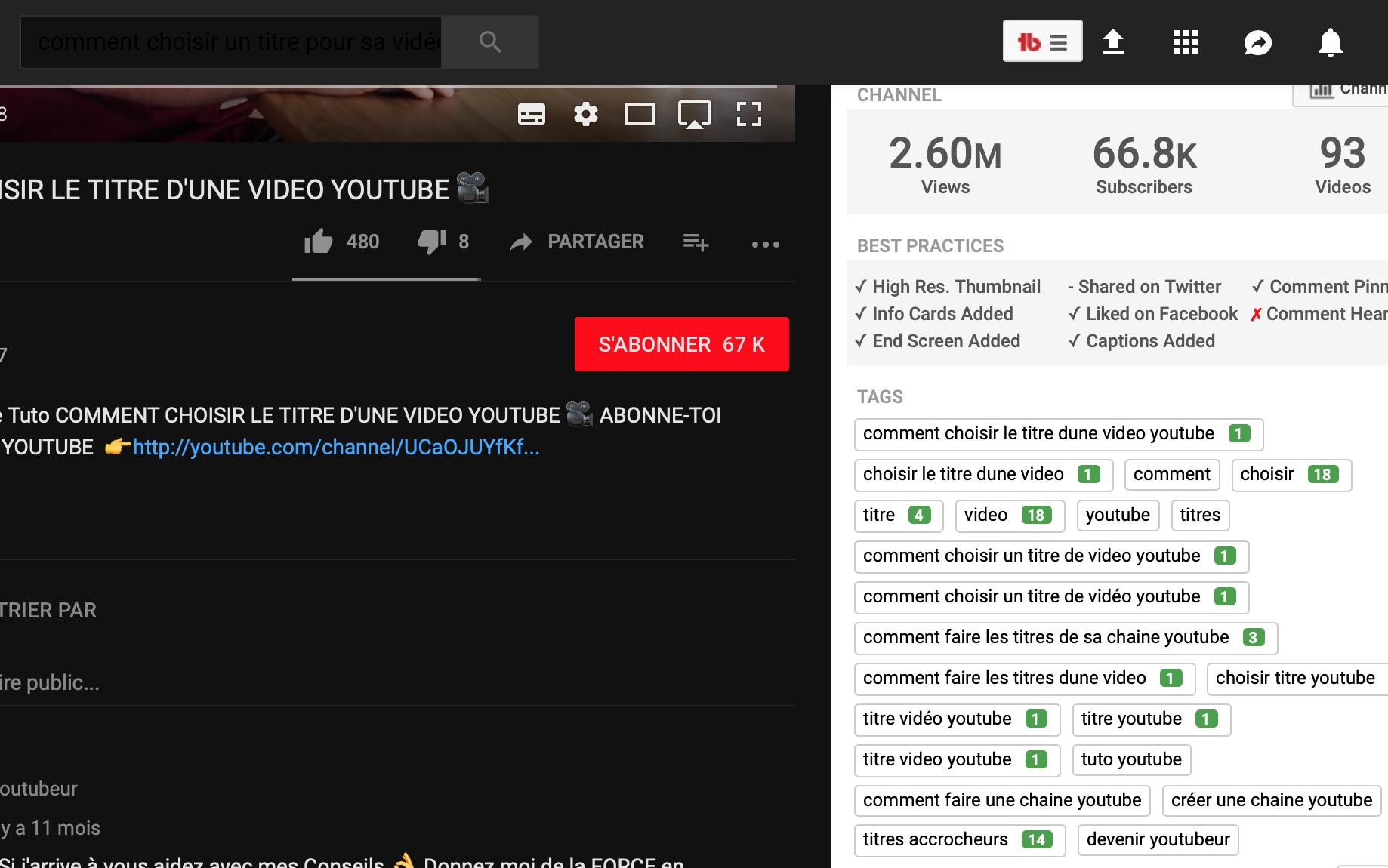 espionner les concurrents sur youtube