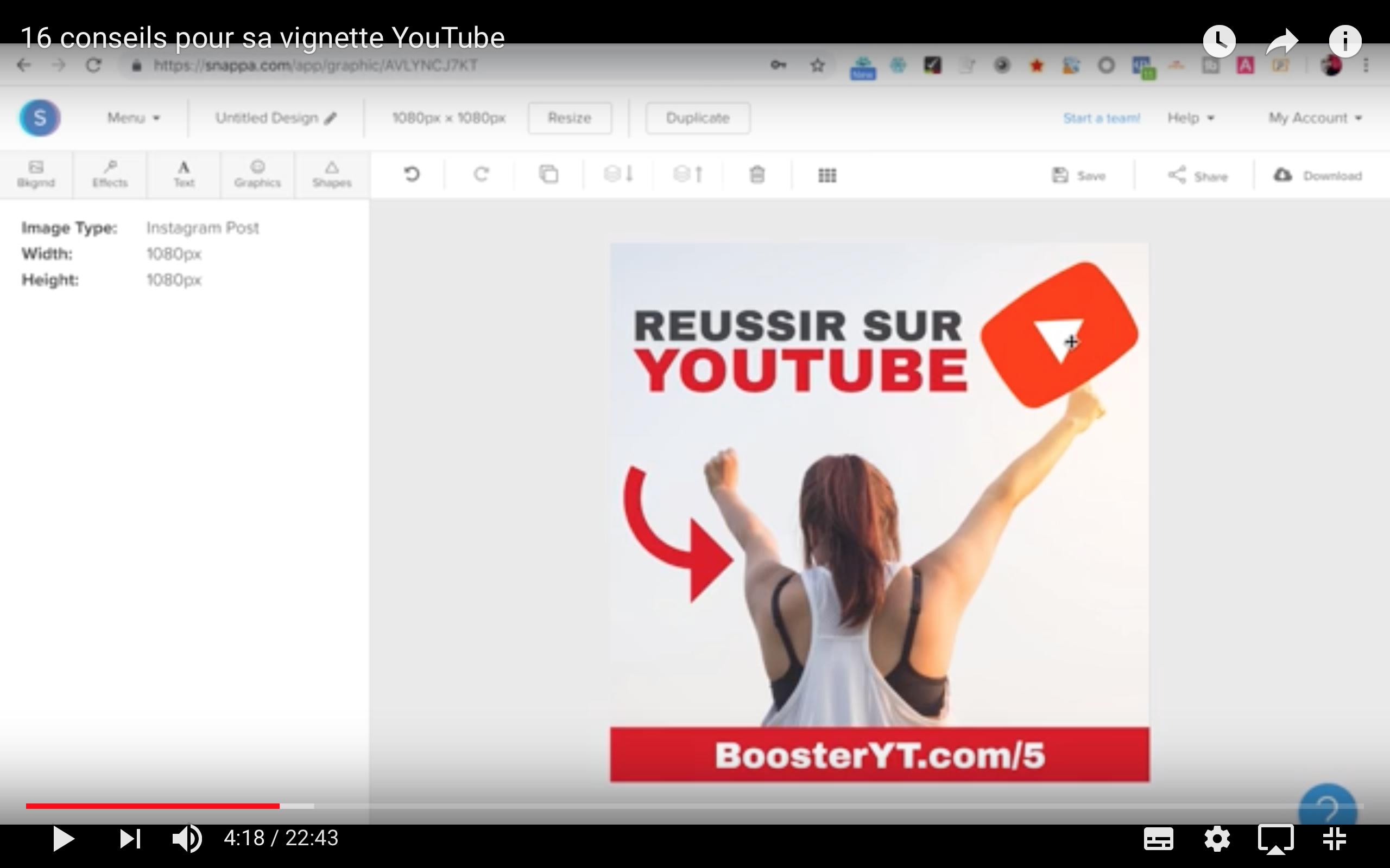 astuce à savoir pour créer une vignette youtube