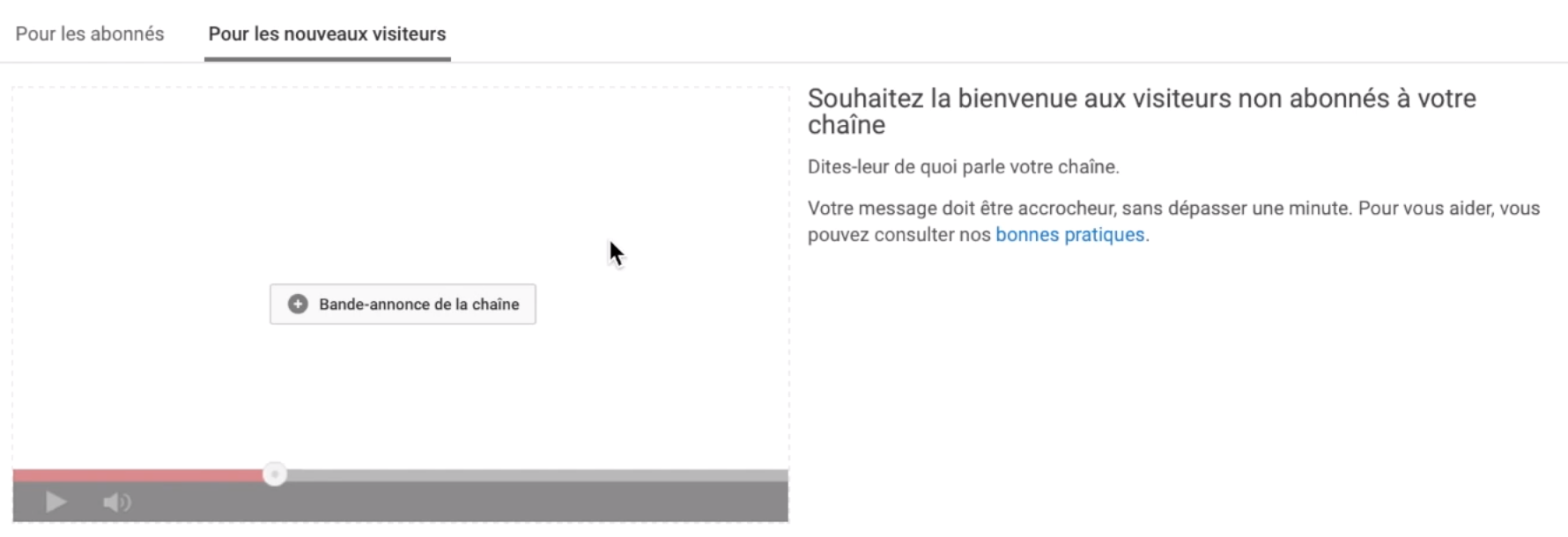 comment ajouter video presentation youtube